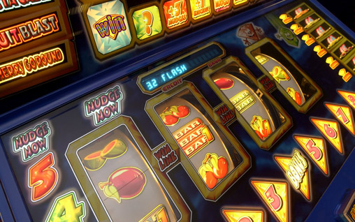 Close Up of Slot Machine
